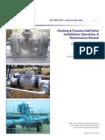 Manual de Instalacion, Operacion y Mantenimiento a Válvulas de Bola SCV