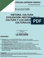 historia de la cultura, civilizacion y los universales culturales