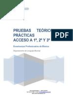 Pruebas Teórico-prácticas Acceso a 1º-2º-3º GP 15-16