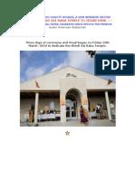 Photos - Inauguration of Sai Baba Temple in Austin` Texas