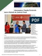 05-10-15 Implementa Gobernadora Claudia Pavlovich Nuevo Sistema de Justicia Penal - Canal Sonora