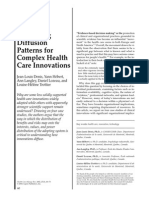 Explaining Diffusion Patterns for Complex Health Care Innovations