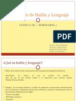 Evaluación de Habla y Lenguaje
