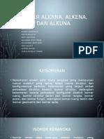 Isomer Alkana, Alkena, Dan Alkuna