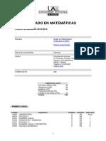 Grado Matematicas