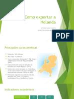 Como Exportar a Holanda