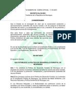 Decret 50-2001 Política Forestal