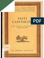 Fasti Capitolini. Atilius Degrassi. PDF