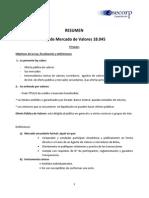 Resume n Ley 18045 Mercado Capital Es