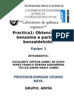 Practica 1 Organica 3.OBTENCION DE BENZOINA A PARTIR DE BENZALDEHIDO