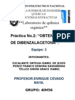 prac 2 qumica 3 OBTENCION DE DIBENZAL ACETONA