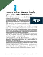 Estudiantes Dominicanos Han Innovado en La Sustitución Del Cemento Portland Por Cenizas de Bagazos De
