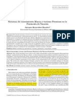 Sistemas de Conocimiento y Turismo Premium, Revista PASOS