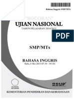 Bocoran Soal UN Bahasa Inggris SMP 2015 by Pak-Anang.blogspot.com