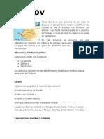 informe de Provincias de la Costa