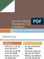 CLASE 1 Juicios Orales, Tratados y Derechos Humanos