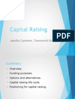 Jamille Cummins Transworld Group - Capital Raising