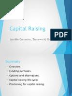 Jamille Cummins Transworld Group - Capital Raising