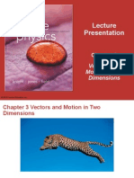 Chapter 3 Presentation - Motion in 2 Dimensions (1)