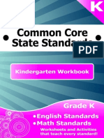 Kindergarten Common Core Workbook Sample