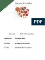 Hemograma Ultimo Informe