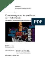 Kennismanagement en intranet. scriptie MIC