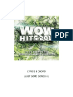 Wow Hits 2010 Lyrics and Chords