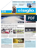 Edicion Impresa Elsiglo Sabado 24 de Octubre
