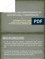 operation and maintenance of centrifugal pump