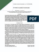 Belytcho Galerkin Element-free Methods