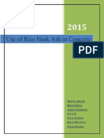 India - A Study on Use of Rice Husk Ash in Concrete Project Report - Dhaval - 020515