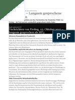 Langsam Gesprochene Nachrichten Von Deutsche Welle, 23. Okt.