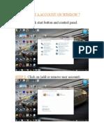 creat a account on window 7