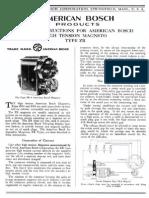 American Bosch Type ZR Magnetos