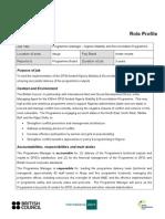 RP Programme Manager NSRP