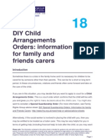 18 Diy Residence Orders Info Family Friends Carers 'Arrangment Orders'