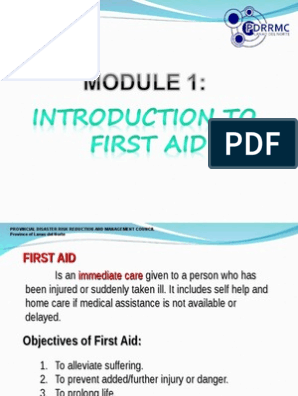 Module 1 Introduction to First Aid ppt | First Aid