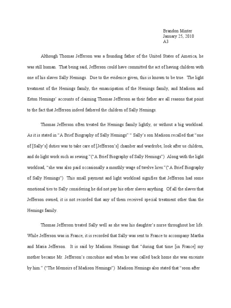 thomas jefferson and sally hemings works cited and annotated thomas jefferson and sally hemings works cited and annotated bibliography thomas jefferson