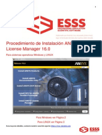 Manual de Intalacion ANSYS 160-LM-Windows&Linux