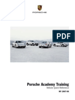 Porsche Academy Training - Vehicle Quick Reference MY2007-08
