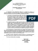 Department Order No. 12