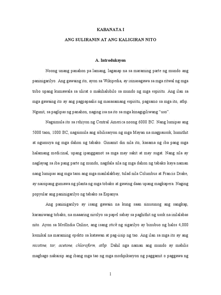 research paper sa filipino tungkol sa droga