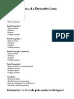 Anatomy of a Persuasive Essay