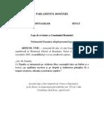 Proiectul Legii de revizuire a Constituţiei României