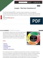 Management Concepts the Four Functio
