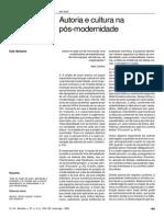 Autoria e cultura na pós modernidade