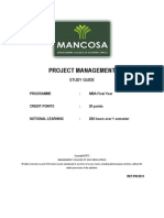 MBA - Project Management Jan 2013