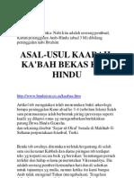 asal usul Kabah