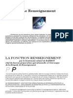 Presentation Renseignement