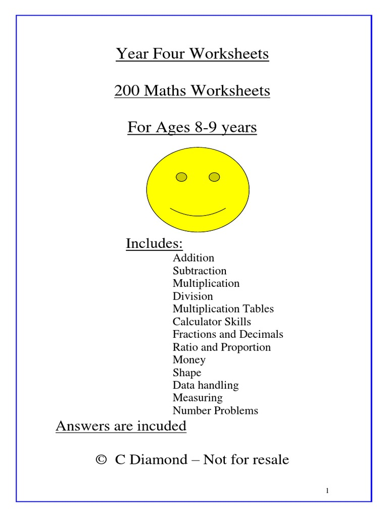 Year 4 Maths Worksheets | Celsius | Mathematical Objects